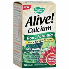 Nature's Way Alive! Calcium Bone Formula Max Absorption 120 Tablets (#8395)