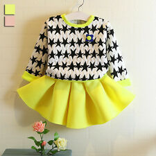 Western autumn new girls child sweater skirt suit Outfits&Sets dress tops VG0015