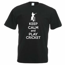KEEP CALM AND PLAY CRICKET - Sport / Funny / Cricketing Themed Mens T-Shirt