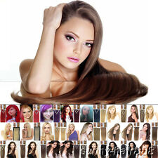 Women Hair Extensions Clip In 7Pcs Straight Hair 15-24Inch Half Full Head Colors