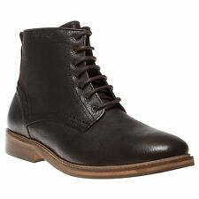 New Mens Ben Sherman Brown Hyox Leather Boots Chukka Lace Up