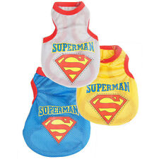 New Pet Dog Christmas Clothes  SUPERMAN Puppy Shirt Jacket Coat Costume Apparel