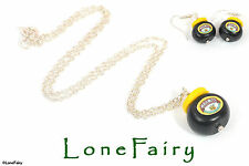 Polymer Clay Marmite Jar Silver Plated Necklace keyring earrings food Kitsch