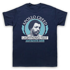 APOLLO CREED LIGHTNING FAST ROCKY UNOFFICIAL T-SHIRT MENS LADIES KIDS SIZES COLS