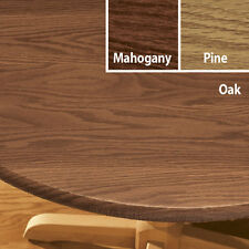 "Fitted Wood Grain Round 40""-44"" 45""-56"" or Oval 42""x68"" Vinyl Table Cover Cloth"