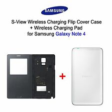 [Samsung] Galaxy Note 4 Wireless S-View Flip Cover (EP-VN910I) / S Charging Pad