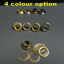 100/1000x Inner dia 6mm Outer dia 10mm solid brass eyelets with washers 4 colour