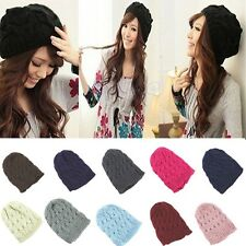 2014 Fashion Women Knit Winter Warm Crochet Hat Braided Baggy Beret Beanie Cap