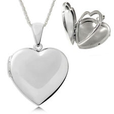 4 Photo Family Album Sterling Silver Locket Heart Shaped (can be personalised)