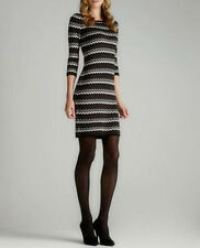 *NEW* Calvin Klein $129 Zig Zag Chevron Print Knit Sweater Dress. NWT S or L