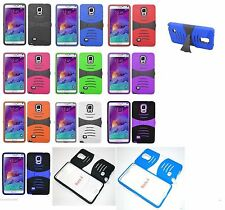 Samsung Galaxy Note 4 N910 Rugged Phone Case with BUILT in Screen Protector