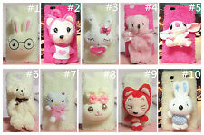 Lovely 3D Cartoon Plush Doll Toy Case Cover Skin For Samsung Mobile Phone