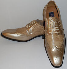 Majestic 99506 Mens Exclusive Fashion Spectator Dress Shoes Frosted Gold Version