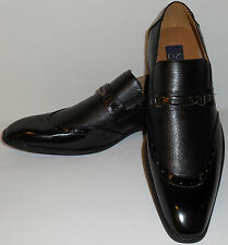 Majestic 99502 Mens Classically Elegant Black Slip On Loafers Dress Shoes