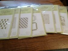 STAMPIN UP EMBOSSING FOLDERS DOTS SCALLOPS STRIPES FRAMES TRIANGLES ZIGZAG +