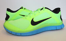 NIKE Free 4.0 V3 Men Running - 579958 304 Green Lime Black Blue - Size 10.5