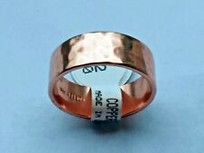 NEW Solid Copper  Hammered  Band Ring size  5 thru 11  Pain Relief Folk Lore