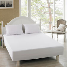Terry Towelling Mattress Protector-waterproof-sizes single-double-king-superking