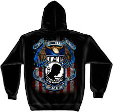 "POW MIA- ""ALL GAVE SOME, SOME GAVE ALL""-HOODED HOODIE SWEATSHIRT-"