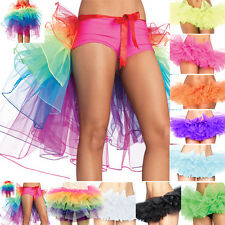 5-8 Layer Rainbow Rave Party Dance Half Bustle Burlesque Skirt Tutu Mini Skirt