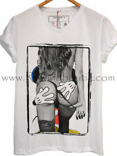 T-Shirt Homme Col V   Exclusive A Magic Hand Mickey Trash Humour S M L XL