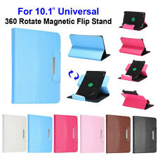 """Fashion 10.1"""" 360 Rotating PU Leather Stand Magnetic Flip Tablet PC Case Cover"""