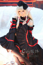 Hot Anime Chobits Chii Black and Red Dress Free Shipping