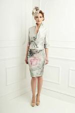 25507 JOHN CHARLES SILK HAZE MOTHER OF BRIDE OUTFIT RRP £799 SAVE 53%  18,20