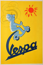PLAQUE ALU DECO AFFICHE VESPA SCOOTER