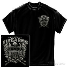 United States Fire Arms Silver Foil T-Shirt, XXL - Black