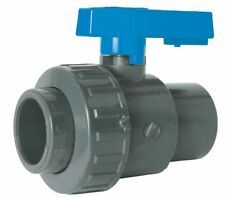 """PVC SOLVENT WELD SINGLE UNION BALL VALVE - EPDM RING  -  1/2"""" TO 4"""""""