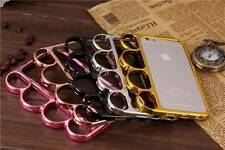 Black Gold Silver PC Metallic Knuckle Duster Frame Case Cover for Iphone 6 4.7