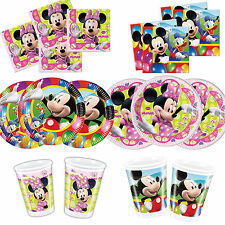 Mickey Mouse & Minnie Mouse  Birthday Party Tableware, Plates, Cups, Napkins !!