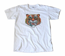 Killer Colorful Tiger Vintage Decal T-Shirt - Hot Rod, Lambretta, Vespa, Scooter