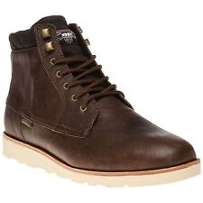 New Mens Vans Brown Breton Leather Boots Chukka Lace Up