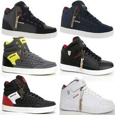 Mens Hi Tops Trainers Designer Quilted Fashion Branded Ankle Boots Shoes Size
