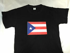 SOUND MUSIC Activated LED LIGHT UP FLASHING PUERTO RICO RICAN FLAG PARTY T-SHIRT