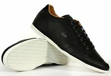 Lacoste Men's Leather Sneakers Alisos 16 Black 7-27SRM1202 024 New Authentic