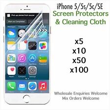 iPhone 5 5s iPhone 5c iPhone SE screen protectors and cloth wholesale job lot