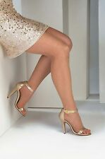 Faith Nude Metallic Taupe Formal Prom Pageant Swimsuit High Heel Sandal Shoe
