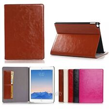 New Luxury Folio Leather Card Set Stand Smart Case Cover For Apple iPad Air 2