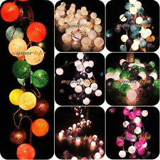 20/35 COTTON BALL FAIRY LED STRING NIGHT LIGHTS WEDDING PARTY CHRISTMAS DECOR *
