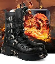 2014 TOP PUNK Rock-Men's Fashion Army Motorcycle COOL Boot # PU Leather-7/8/9/10
