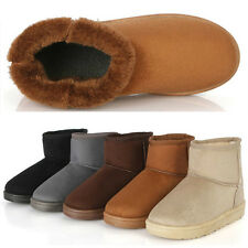 2014 New Women Girls Winter Warm Snow Ankle Boots Flat Shoes Cheap Boots Heels
