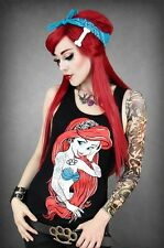 Shirt Arielle Gothic Rockabilly Tank Top Meerjungfrau Punk Steampunk Tattoo neu