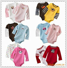 5pcs Lot Baby Boys Girls Long Sleeves Rompers Jumpsuit Clothing One-Pieces 3-24M