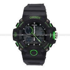 New OHSEN Fashion Waterproof Digital LCD Alarm Date Mens Analog Sport Watch