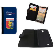 CUSTODIA FLIP ECO PELLE GENOA CALCIO PER IPHONE SAMSUNG GALAXY NOTE ACE