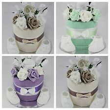 BABY BOY GIRL UNISEX CLOTHES FLOWER BOUQUET NAPPY CAKE NEW BORN SHOWER GIFT