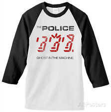 The Police - Ghost In the Machine Jersey T-Shirt White/Black